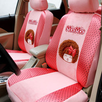 10 pcs pink car seat covers - MocMoc Car Auto Front Rear Seat Cover Cushion Pink