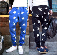 Men drop crotch pants - NEW men printed drop crotch harem skinny sweatpants sports baggy pants mens casual hip hop outdoor silm bandana trousers gift scarves