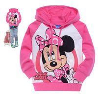 Girl Spring / Autumn Hooded Free Shipping 2014 Hot 6pcs lot Kids boys girls hoodies baby cartoon T shirts Sweatshirts kids outerwear clothing wholesale