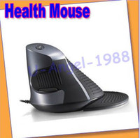 Wholesale NEW Novel Delux M618LU M618 wired vertical mouse cordless mouse laser upright mices health mouse