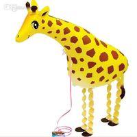 Wholesale s walking balloons pet giraffe animal balloons helium balloons