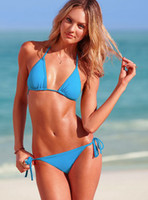 Wholesale Foreign trade bikini bikini swimwear BIKINI color candy colors Ouma spot DM005