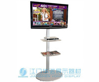 Wholesale Portable LCD LED tv stand exibition product trade show quot to plasma or LCD television stand Single column With two shelves