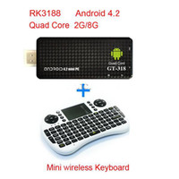 Wholesale Latest TV BOX MK809 III Rockchip RK3188 Quad Core Cortex A9 MINI Androind PC TV Stick GB GB ROM GHz With Mini Keyboard