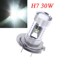 Wholesale H7 Led Bulb W High Power Ultra Bright CREE H7 LED Car Foglamp Fog Light LM White K1063