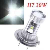 Wholesale H7 Led Bulb W High Power Ultra Bright CREE H7 LED Car Foglamp Fog Light LM White K1063