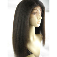 Wholesale New fashion indian remy virgin human hair full lace wigs amp lace front lace wigs kinky straight natural hairline lace wigs