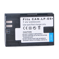 Wholesale 2200mAh LP E6 LPE6 Battery for Canon D D Mark III D Mark II D D Camera D1039
