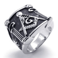 Band Rings Masonic Unisex Stainless Steel Masonic Ring Mason Freemasons Heavy Metal R7