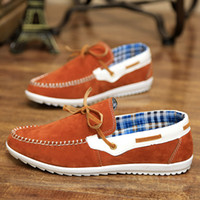 Slip-On Men Spring and Fall 2014 Spring men's sneakers British style curved casual shoes men's fashion breathable shoes(37-A01)