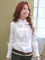 Wholesale Korean Stylish womens fashion long sleeved shirts casual shirts dress shirts top s Black White Gray X133