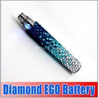 best samples - Samples diamond ego battery Colorful e Cigarette battery Electronic Cigarette diamond battery mah best quality DHL churchill