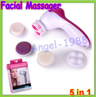 Wholesale New in Electric Wash Face Machine Facial Pore Cleaner Body Cleaning Massage Mini Skin Beauty Massager Brush