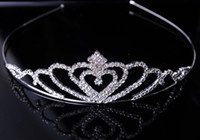 Wholesale 2014 new high quality peach heart water drop shape silver and crystal rhinestone tiaras amp hair accessories DHL