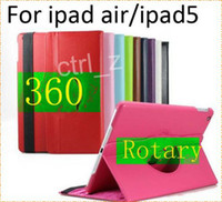 Wholesale ipad air Rotating Case For iPad Air Ultra thin Degree Rotary Stand Leather Case Cover For iPad Air iPad iPad Mini Retina