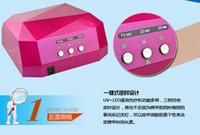Wholesale LED diamond phototherapy machine W Manicure professional phototherapy mecha oil Cutex Bobbi glue general DHL UV lamp LED lamps