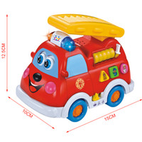 Baby Unisex Learning Machine Free Shipping Brand High Quality Universal Fire Truck Music Chinese & English Learning & Education Toy For Children Gift