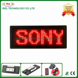 Wholesale KTV LED Message Signs Name Badge Red T Pixel mm taking on upper clothes and T shirts