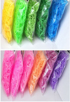 12-14 Years Multicolor Silicone 50sets lot colorful Jelly Transparent Rainbow loom Bands 600pcs + 24 CLIPS rubber bands For DIY bracelet Accesorries