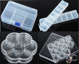 Wholesale Brand New Mix Style Plastic Adjustable Jewelry Bead Pill Organizer Box Storage Container Case FG16001 FG16004 M