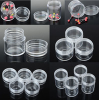 Wholesale Hot Sale Cream Box Bottle Plastic Tools Box Case Craft Organizer Storage Beads Round FG16005