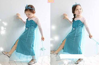 2014 New Frozen queen elsa girls princess dress Elsa's and A...