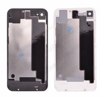 Wholesale 50 Black White Back Glass Shell Battery Housing Door Cover Replacement Part for iPhone G S by DHL EMS