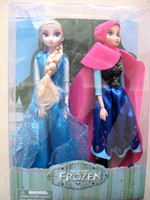 Girls 3-4 Years PVC Wholesale - 2014 hot sell 2pcs=1set in 1 box frozen girls.frozen anna doll toy frozen elsa retail box
