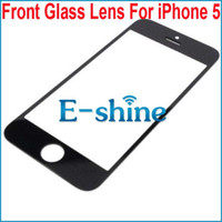 For Apple iPhone Touch Screen Black and White Black and White Front Screen Glass Lens For iPhone 5 5S 5C Outer Touch Screen Cover Replacement Free Shipping