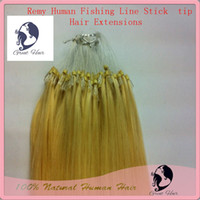 Wholesale great hair blonde eurasian hair Fishing Line Stick tip Virgin hair Remy Human Hair accessories s pack Color613 more