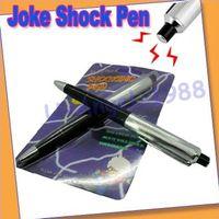 8-11 Years Black Metal Free shipping + Gift Idea 10pcs lot Electric Shock Pen Joke Gag Prank Trick Funny Toys