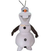 Wholesale Fancytrader Real Pictures New Deluxe Smiling Frozen Snowman Olaf Mascot Costume with helmet and mini fan FT30687