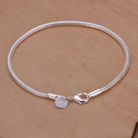 Link, Chain snake bracelet - Newest style Fashion Jewelry Silver MM Smooth snake chain Bracelet inch inch Hot sale