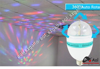 projector lamp bulb - E27 Full Color W RGB LED projector Crystal Stage Light Magic Ball DJ dace party disco effect Light Bulb Lamp