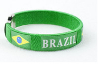 Unisex promotion fan - Promotion Brazil s World Cup Soccer Fans Bracelet Bangle Strap Supplies Souvenirs Embroidery Line Bracelets wristband bangle Hot