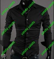 Wholesale new big yards pure color long sleeve shirts men long sleeve shirt Qiu dong joker pure color shirt CHENYI028