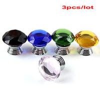 Wholesale Diamond Style Crystal Knob Cabinet Pull Handle Drawer Door Wardrobe mm
