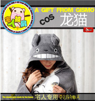 retail shawls - Retail Cute My Neighbor Totoro Lovely Plush Soft Cloak Anime Totoro air condition Shawls cosplay totoro cloak
