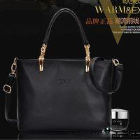 Wholesale 2014 Hot Sale Genuine Leather Tote Bag Temperament Lady Solid Color Shoulder Bag Cross Body Simple Fashion Designer Handbags YS006