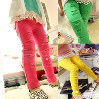 Casual Pants Girl Spring / Autumn Clothing female child baby autumn 2012 100% cotton legging skinny pants boot cut jeans