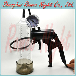 Wholesale Manual Operation Vacuum Enhancer Pump with Instrument Panel Penis Enlargement Penis Pump Adult Sexy toys for Man Sex Products