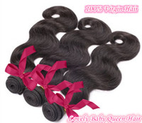 Wholesale Brazilian Virgin Hair Queen Hair A Body Wave Extensions Remy hair Natural Color B Tangle hot sell