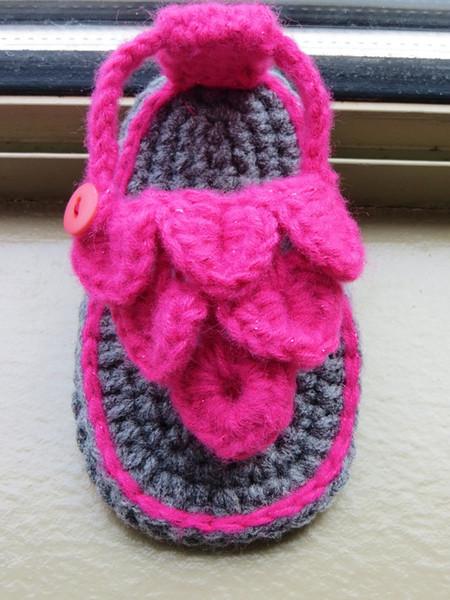Весы детская обувь, вязание крючком детские босоножки, цвет новорожденного