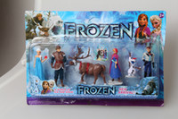 Wholesale Retail Frozen Piece PVC action Figure Play Set Anna Elsa Hans Kristoff Sven amp Olaf kid s gift toy