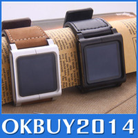 Yes Metal For iPod Nano Metal aluminum materia MP3 Lunatik Lynk Watch Kits Chicago Collectio Leather Band Wrist Strap Watchband Case For iPod Nano 6 Free Shipping