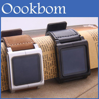 Yes Metal For iPod Nano Metal aluminum materia MP3 Lunatik Lynk Watch Kits Chicago Collectio Leather Band Wrist Strap Watchband Case For iPod Nano 6 1pcs