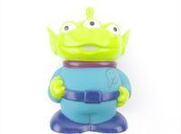 Wholesale Cute Toy Story Figure Aliens Shaped Plastic Coin Bank Money Saving Jar Box