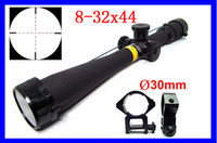 Wholesale Tactical BSA x44 Mil Dot Rifle Scope Side Wheel Focus Free mm Rail Mounts Outdoor Riflescope Optical Aim HOT