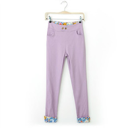 Wholesale Europe and the United States elements sweet candy color pants in colors