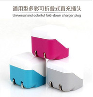 Universal other  Wholesale -100pcs 1LOT USA EU Plug Mini USB AC Power Adapter Wall Charger For iPhone 5 5S 5C iOS7 4 4S 3G Samsung Galaxy HTC,Blackberry